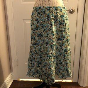 Anthropologie Odille silk skirt size 8